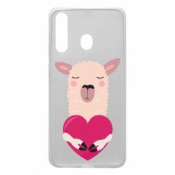 Чохол для Samsung A60 Lama with heart