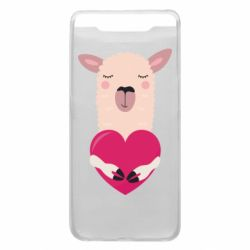 Чохол для Samsung A80 Lama with heart