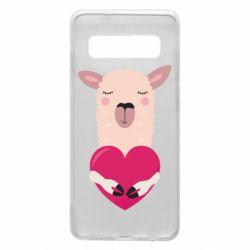 Чохол для Samsung S10 Lama with heart