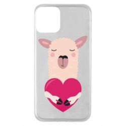 Чохол для iPhone 11 Lama with heart