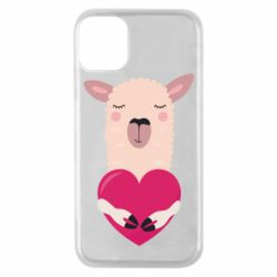 Чохол для iPhone 11 Pro Lama with heart