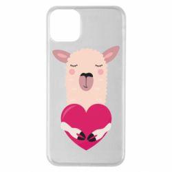 Чохол для iPhone 11 Pro Max Lama with heart
