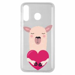 Чохол для Samsung M30 Lama with heart