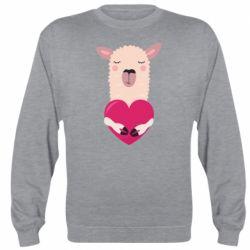 Реглан (світшот) Lama with heart
