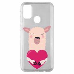 Чохол для Samsung M30s Lama with heart