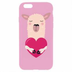 Чохол для iPhone 6 Plus/6S Plus Lama with heart