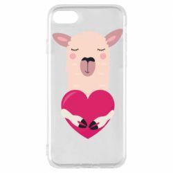 Чохол для iPhone 7 Lama with heart