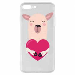 Чохол для iPhone 7 Plus Lama with heart
