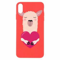 Чохол для iPhone X/Xs Lama with heart