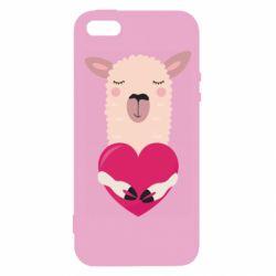 Чохол для iphone 5/5S/SE Lama with heart