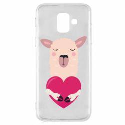 Чохол для Samsung A6 2018 Lama with heart