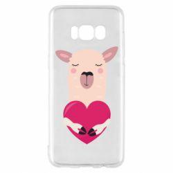 Чохол для Samsung S8 Lama with heart