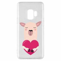 Чохол для Samsung S9 Lama with heart