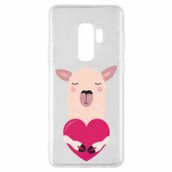 Чохол для Samsung S9+ Lama with heart