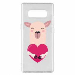 Чохол для Samsung Note 8 Lama with heart