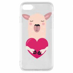 Чохол для iPhone 8 Lama with heart