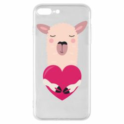 Чохол для iPhone 8 Plus Lama with heart