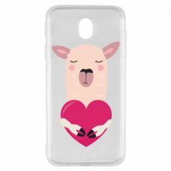 Чохол для Samsung J7 2017 Lama with heart