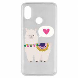 Чехол для Xiaomi Mi8 Lama with pink heart