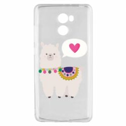 Чехол для Xiaomi Redmi 4 Lama with pink heart