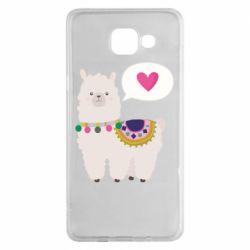 Чехол для Samsung A5 2016 Lama with pink heart