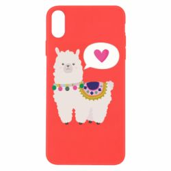 Чехол для iPhone Xs Max Lama with pink heart