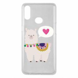 Чехол для Samsung A10s Lama with pink heart