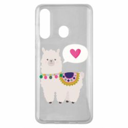 Чехол для Samsung M40 Lama with pink heart