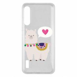 Чохол для Xiaomi Mi A3 Lama with pink heart