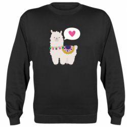 Реглан (свитшот) Lama with pink heart
