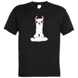 Чоловіча футболка з V-подібним вирізом Lama Yoga