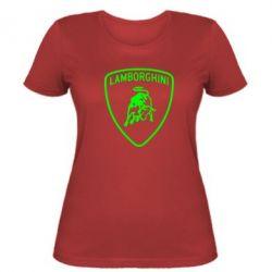 Женская футболка Lamborghini Auto - FatLine