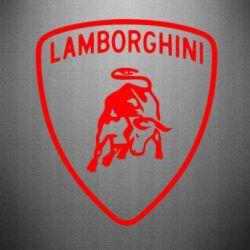 Наклейка Lamborghini Auto - FatLine