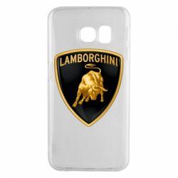 Чохол для Samsung S6 EDGE Lamborghini Logo