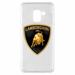 Чохол для Samsung A8 2018 Lamborghini Logo
