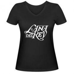Жіноча футболка з V-подібним вирізом Lana Del Rey