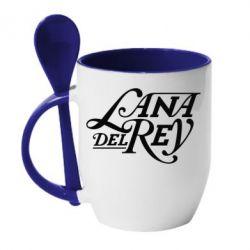 Кружка з керамічною ложкою Lana Del Rey