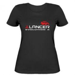 Женская футболка Lancer Evolution X - FatLine