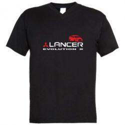 Чоловіча футболка з V-подібним вирізом Lancer Evolution X