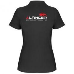 Женская футболка поло Lancer Evolution X - FatLine