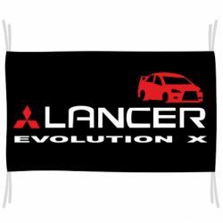 Флаг Lancer Evolution X