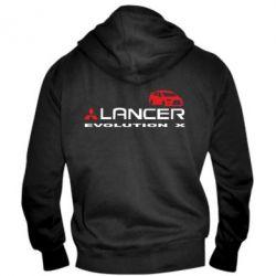Мужская толстовка на молнии Lancer Evolution X - FatLine