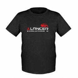 Детская футболка Lancer Evolution X - FatLine