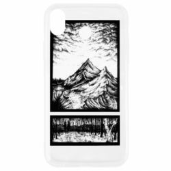 Чохол для iPhone XR Landscape mountains drawing