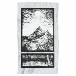 Рушник Landscape mountains drawing