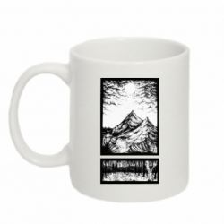 Кружка 320ml Landscape mountains drawing