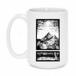 Кружка 420ml Landscape mountains drawing
