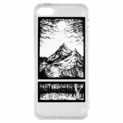Чохол для iphone 5/5S/SE Landscape mountains drawing