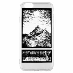 Чохол для iPhone 6/6S Landscape mountains drawing