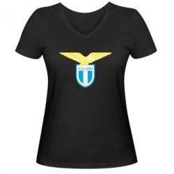 Женская футболка с V-образным вырезом Lazio - FatLine